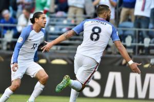 Clint Dempsey scores for the USA vs. Ecuador