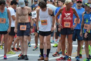 Runner sets record for half marathon in dress shoes