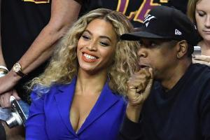 Jay Z and Beyonce attend Game 6
