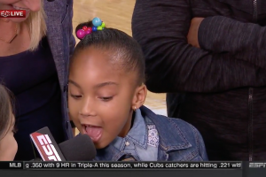 J.R. Smith's daughter proud he stayed on team