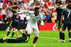 Daniel Sturridge scores England's winner over Wales at Euro 2016