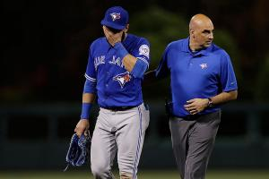 Jays' Bautista placed on DL with sprained toe