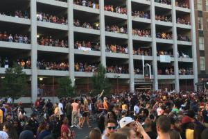 Scores turn out to watch Game 7 in Cleveland