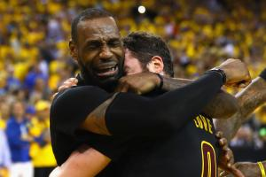 Watch: LeBron, Cavs celebrate NBA title