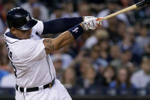 Miguel Cabrera leaves Comerica Park with homer