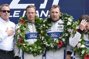 Podium after 2016 24 Hours of Le Mans