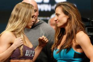 Miesha Tate calls out Ronda Rousey on Conan