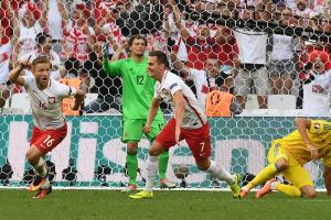 Poland beats Ukraine, finishes 2nd in Euro group