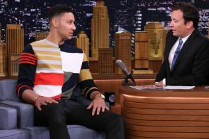 Ben Simmons ate a Philly cheesesteak on Fallon
