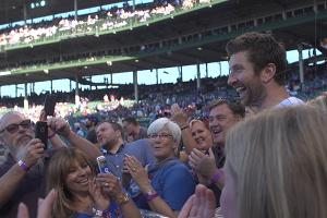 Brett Eldredge debuts music video at Wrigley Field