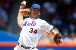 Noah Syndergaard exits start with elbow flare-up