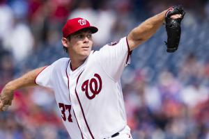 Strasburg (back, ribs) won't start Sunday