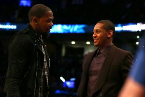 Carmelo Anthony is recruiting Kevin Durant