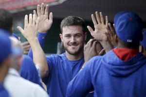 Watch: Kris Bryant records first three-homer game