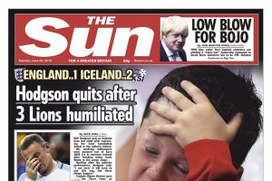 English newspapers react to Iceland upset
