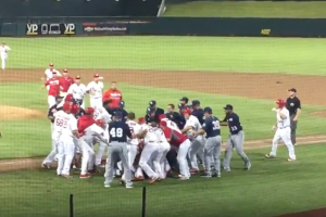 Benches, bullpens clear in chaotic Triple A brawl