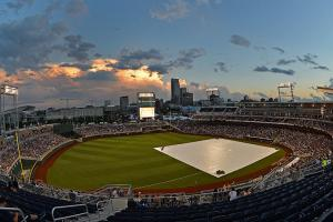 College World Series championship game postponed