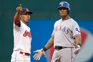 Francisco Lindor, Cleveland Indians and Adrian Beltre, Texas Rangers