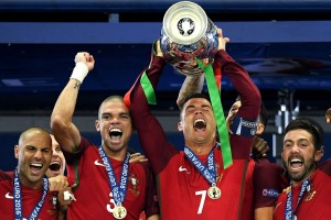 Hurt Ronaldo revels in Portugal's Euro 2016 title