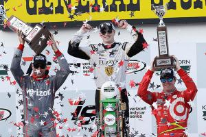 Newgarden wins IndyCar Iowa Corn 300 race