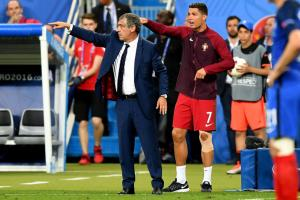 Watch: Ronaldo acts as manager during Euro final