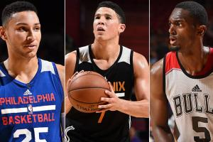 Ben Simmons, Devin Booker and Bobby Portis