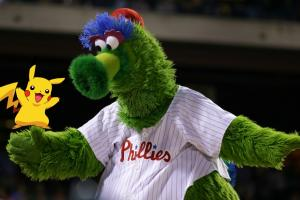 Phillie Phanatic plays live action Pokemon Go