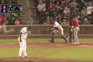 You've never seen a baseball brawl start like this