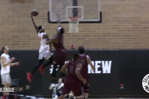 Andre Drummond dunked on twice at the Drew League