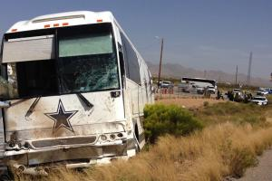 Four dead in crash involving Dallas Cowboys bus