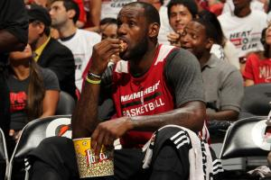 LeBron James ate popcorn during the Red & White scrimmage game in 2013, but on his new low-carb diet, junk food is out of the picture.