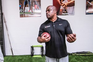 Travelle Gaines, NFL trainer, works with LeSean McCoy, Ryan Matthews