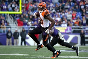 A.J. Green caught 98 passes for 1,426 yards and 11 touchdowns last season for the Bengals.