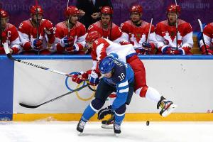 Russia fails to medal as Finland wins quarterfinal, 3-1