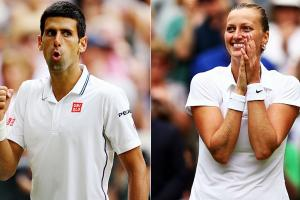 Novak Djokovic and Petra Kvitova both won Wimbledon for the second time.