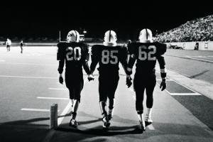The men of Friday Night Lights football team reunite to...
