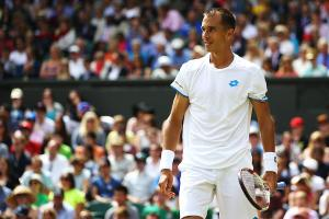Lukas Rosol took the first set from Rafael Nadal, but the French Open champion came back to win the next three.
