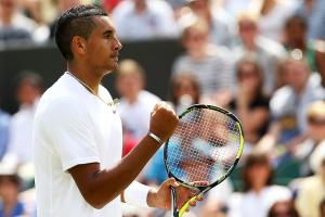 Nick Kyrgios reached the third round at Wimbledon for the first time, defeating No. 13 Richard Gasquet.