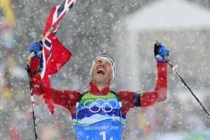 The best biathlete around, Ole Einar Bjoerndalen become...