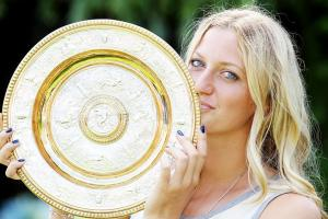 With a powerful display in the final, Petra Kvitova won her second Wimbledon title.