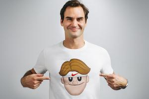 Roger Federer elevates his emoji game to t-shirts
