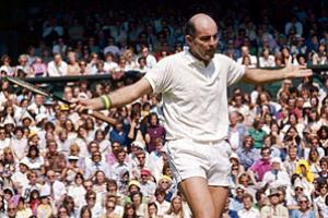 Bob Hewitt, shown here at Wimbledon in 1975, was suspended from the Tennis Hall of Fame.