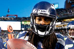Richard Sherman led a dominant Seahawks defense, finishing second in the league with eight interceptions.
