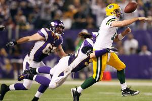 Aaron Rodgers and the Packers lost to the Vikings in Week 17, but should rebound in the playoffs.