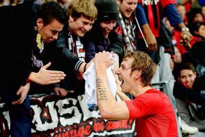 Stefan Kiessling of Leverkusen leads the Bundesliga with 13 goals this season.