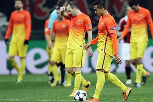 Barcelona suffered its first defeat by two goals since a 3-1 loss to Real Betis in the 2011 Spanish Cup.