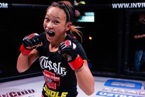 Michelle Waterson defeated Lacey Schuckman during Invicta 3 in October after going all three rounds.