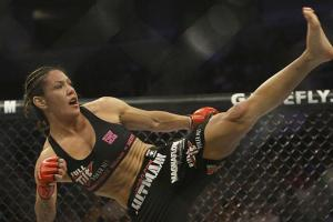 Chris 'Cyborg' Santos dominated in her return from suspension, pummeling Fiona Muxlow Friday night.