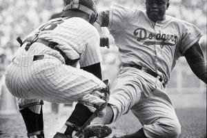 In a career filled with memorable moments, perhaps Jackie Robinson's most famous was his steal of home in Game 1 of the 1955 World Series.