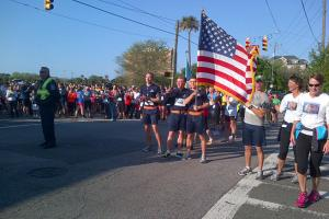 The run in Charleston was far away from Boston, but the emotions of last week still hit close to home.